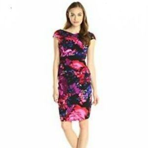 adrianna papell floral dress size 5
